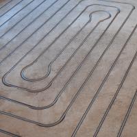 Vloerverwarming gefreesd 50m² in 5 groepen
